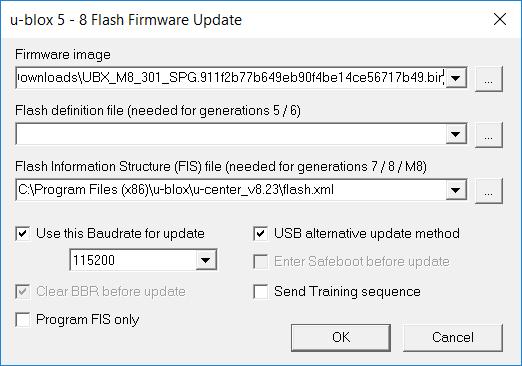 Ublox Flash Upgrade